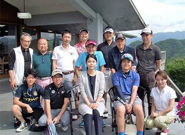 JHSゴルフクラブの第1回ゴルフコンペの参加者