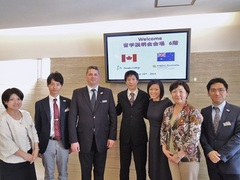 左から、吉岡先生、黒田先生、Mark先生、ヤスオカ先生、Ai Lin先生、吉浦先生、井上先生