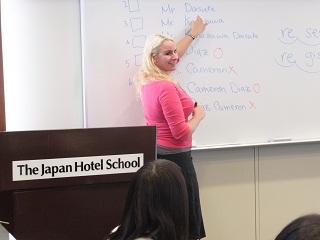 ホテル英会話の授業の様子
