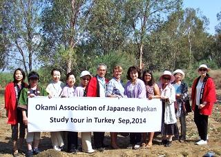 トルコ、セルチュク市での松の木12本植樹