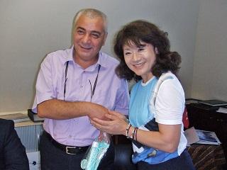チェティン・ギュルジュン事務局長と日本旅館国際女将会会長 長坂氏