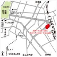 弘前会場への地図
