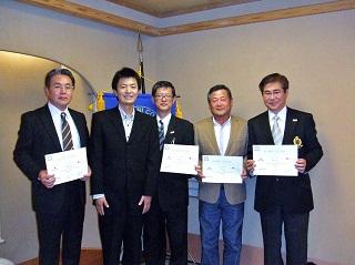同窓大学修了証授与 九州支部参加者