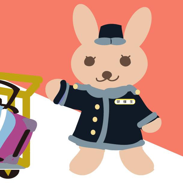 LINEの日本ホテルスクール公式アカウントから生まれたキャラクター「ホテウサ」