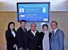 Skal International Asia前会長Gerry Perez氏とグアム大学准教授Karri T. Perez夫人との写真