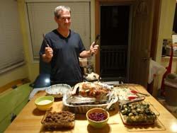 11月のサンクスギビングの伝統的な料理