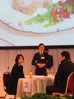 決勝に進み入賞した昼間部英語専攻科2年生 吉昌 亜稀子さん(海外の学校出身)