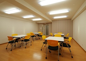 JHS学生会館の共用スペース