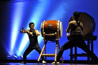 東京打撃団による太鼓、尺八、三味線の余興演出