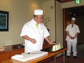 三代目ご主人 田村隆様の日本料理講座