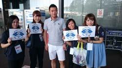 成田空港で到着したコンシェルジュのお出迎えをする日本ホテルスクール生