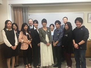 予選会参加の弁士(日本語、英語部門)と審査員の先生方