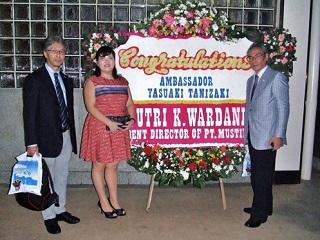 インドネシア日本国大使公邸でのレセプションにて