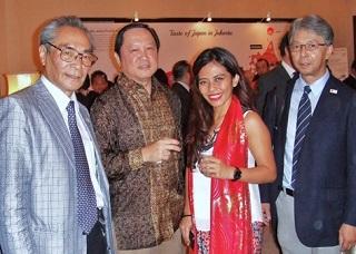 インドネシアの要人とインドネシア日本国大使公邸・レセプションにて