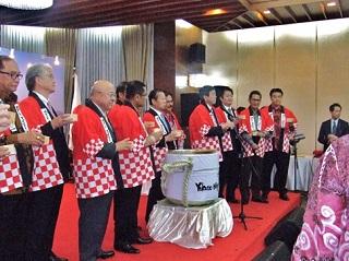 インドネシア日本国大使公邸でのレセプションの様子