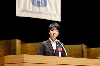 英語部門 最優秀賞 昼間部英語専攻科 2年 上野 千晴さん