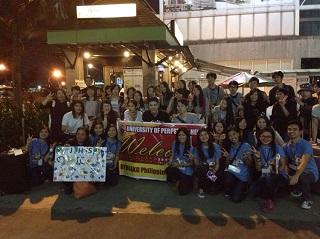 UPHの学生が空港で日本ホテルスクールの学生をお出迎え