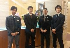 集合写真(黒田先生、Hiroshiさん、武内先生、中山先生)