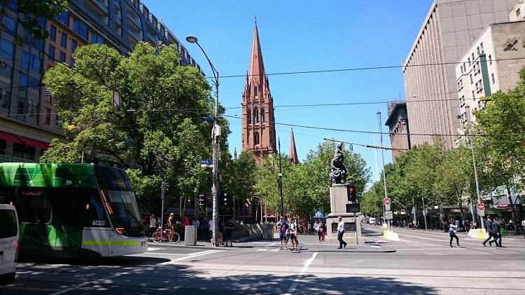 オーストラリア・メルボルンの街並み