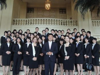 ザ・ペニンシュラマニラ ホテル見学の際の集合写真