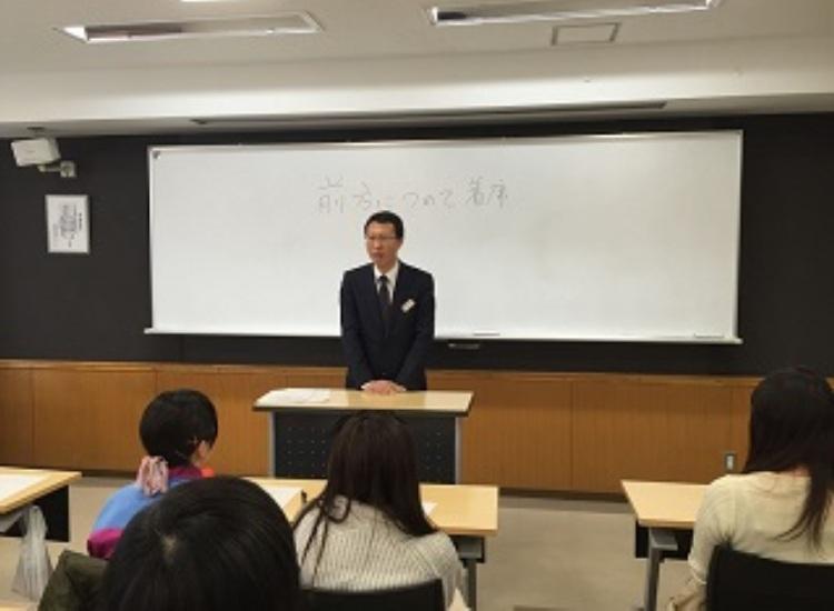 1. 川上副校長より挨拶と激励のメッセージ