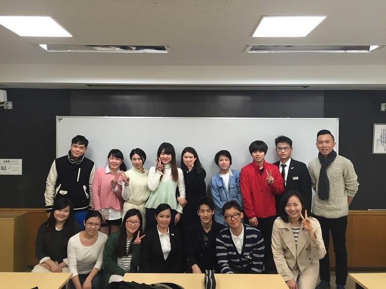 2016年度の外国人留学生対象オリエンテーションに集まった生徒たち