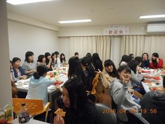 JHS学生会館(妙典) 歓迎会の様子