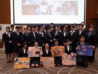 英語専攻科1年生 プログラムに参加した学生の集合写真