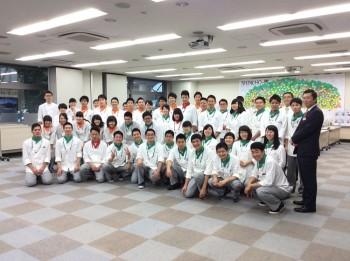 特別講義終了後、シャイニング・スターズの皆さんと 角田考平先生、島田雅輝先生