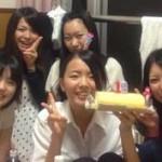 同じ実習先の学生たちにお誕生日をお祝いしてもらう阿部さん
