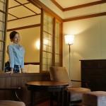 軽井沢の万平ホテルの室内