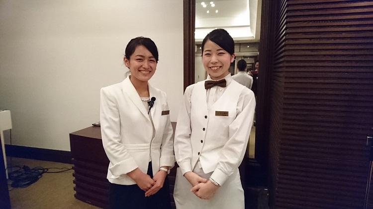 左から、卒業生の湊さん(2016年卒業)と高山さん(2015年卒業)