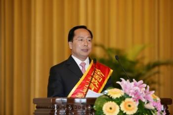 全国教育受賞式でスピーチする北京人民大会堂(2009年9月)