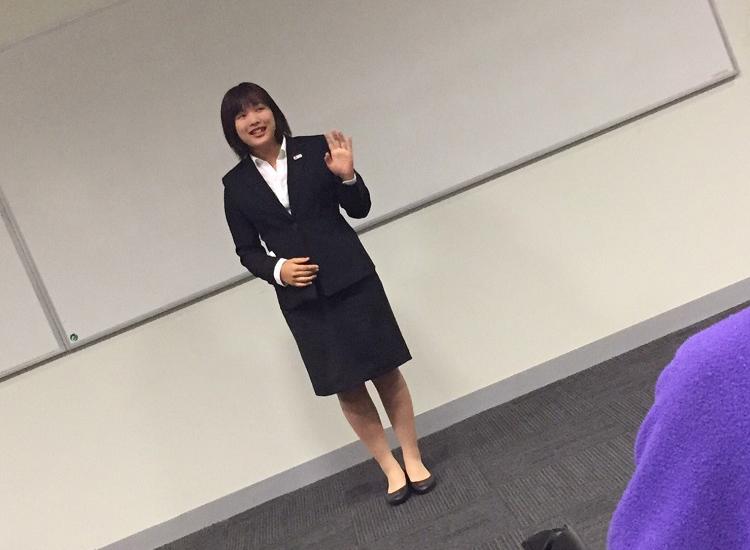 修了式でスピーチした伊藤さん