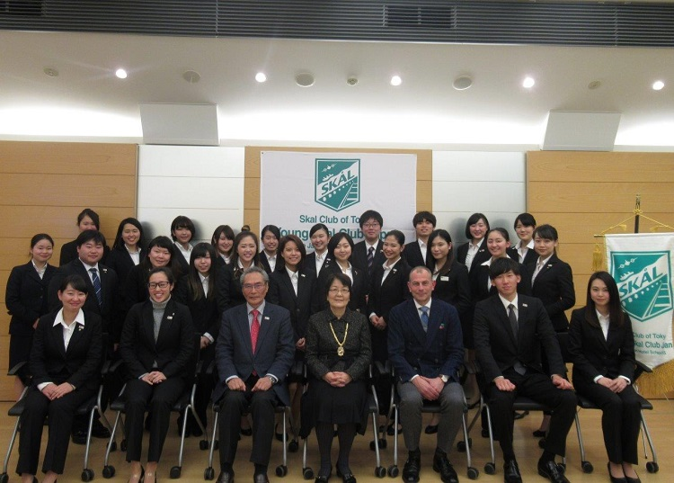 集合写真 -Skal Int'l 東京の幹部と共に-
