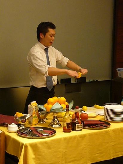 仕事体験!◆レストラン 味覚チェック&フランベ演出体験