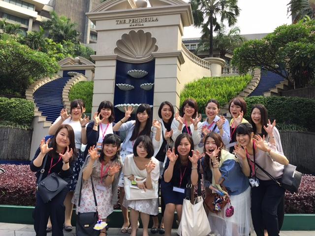 ザ・ペニンシュラマニラを見学。ホテルで働く卒業生にもお会いでき感激しました。