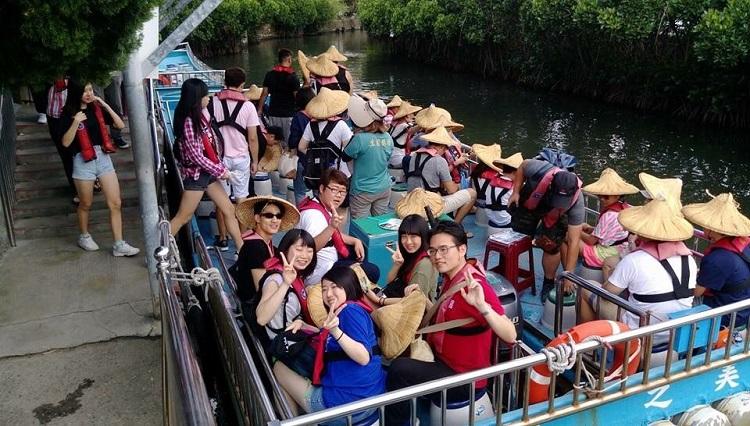 台湾での旅行の様子