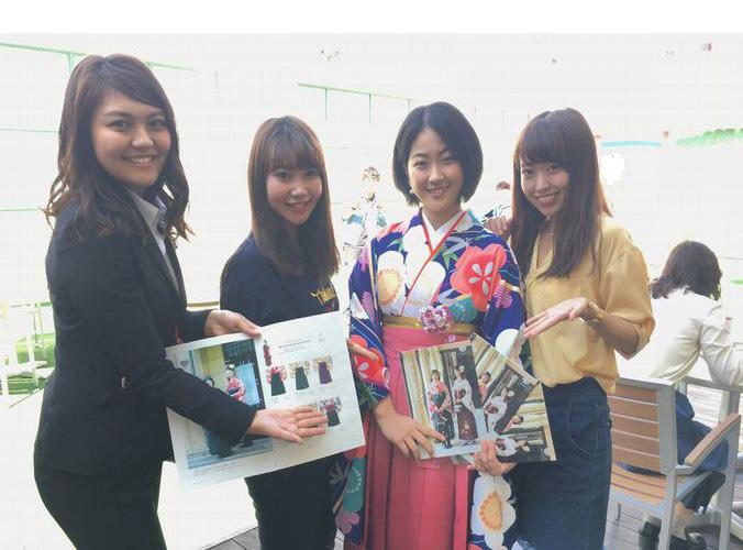 ブライダル科「卒業式袴展示会」プロジェクト その9~展示会最終日!
