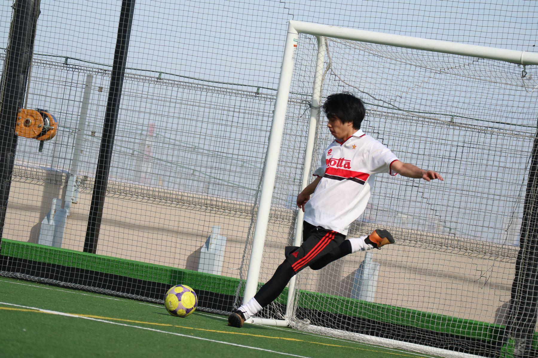 顧問の上野先生です!サッカー経験者でとてもかっこよかったです!