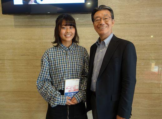 随分読込んだ本をお持ちくださいました!あこがれの高野さんと記念写真です