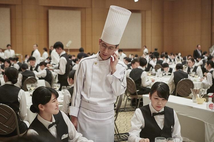 横浜ベイホテル東急 料理長 曽我部様も学生と交流しました