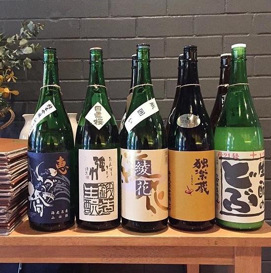 豊富な日本酒を揃えた日本食レストラン