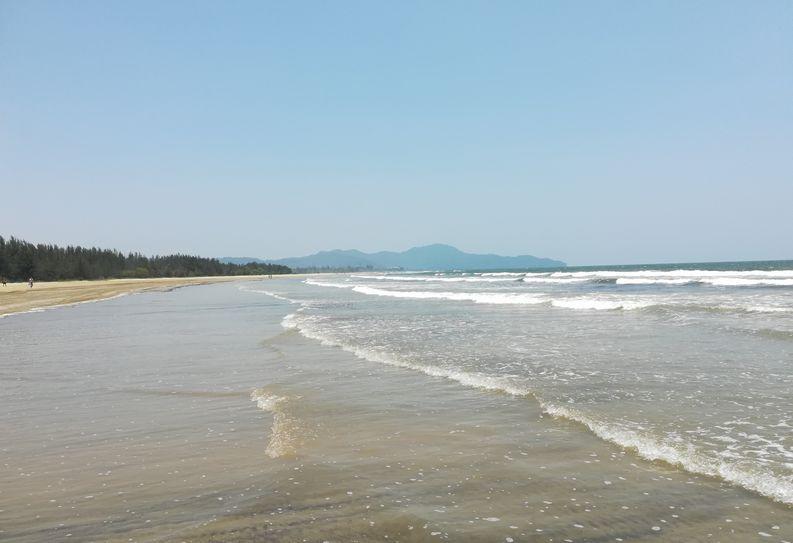 約3kmのホテルプライベートビーチ