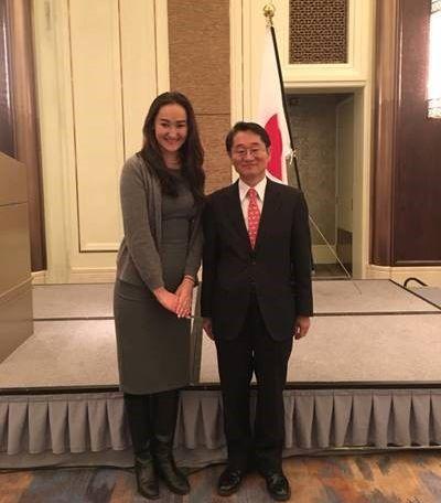 日本大使と面会