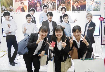 韓流スターと一緒に(?!)記念撮影です。