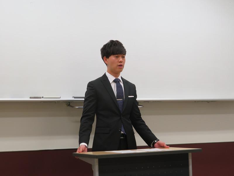 今回も留学生が英語部門で参加してくれました