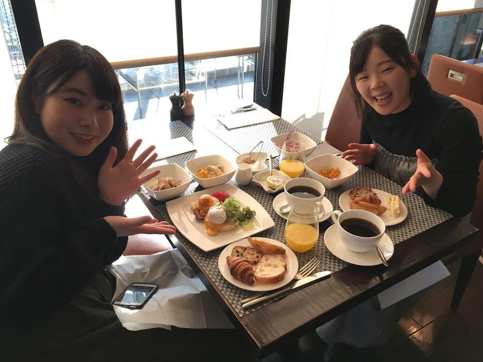 おいしい朝食で朝からパワーがみなぎります!
