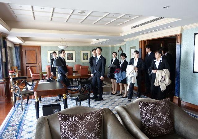 スイートルームの見学(ウェスティンホテル東京)