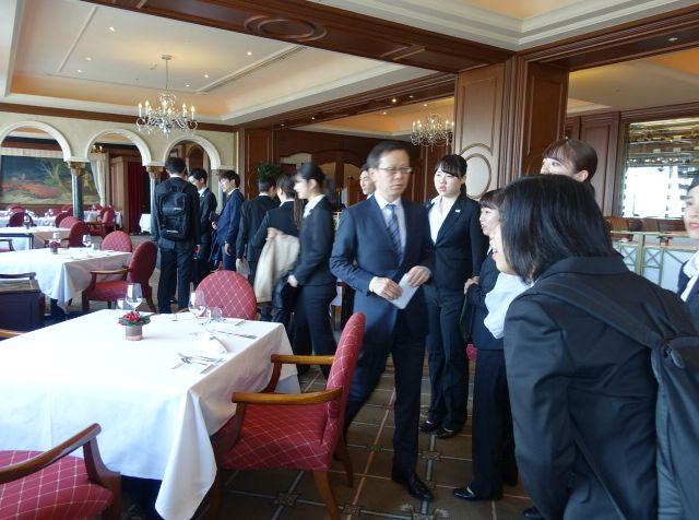 フレンチレストランの見学(ウェスティンホテル東京)